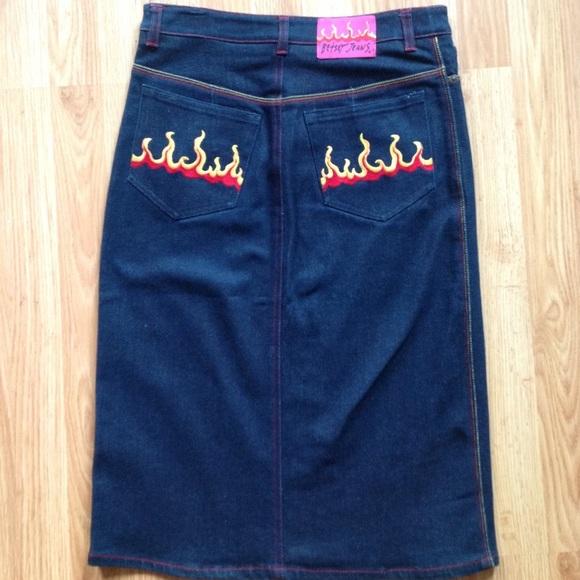 Betsey Johnson Dresses & Skirts - NWOT Denim Skirt Sz S